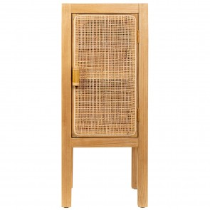 Woven Wood Lamp Cabinet