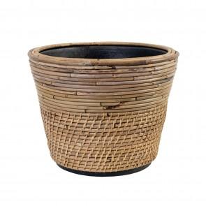 Drypot Rattan Lombok Planter - Medium