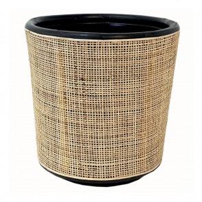 Drypot Rattan Webbing Planter - Medium