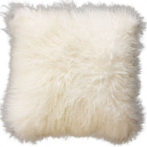 Collezióne Tibetan Lamb Cushion - Natural White