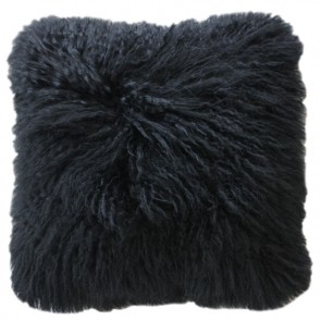 Tibetan Lamb Cushion - Black