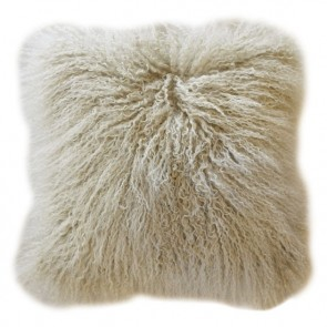 Tibetan Lamb Cushion - Light Stone
