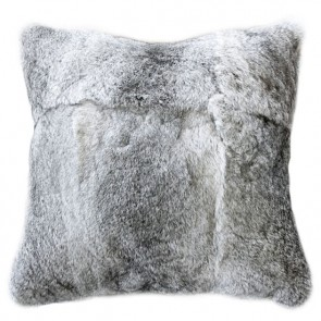 Rabbit - Natural Silver Grey Cushion