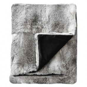 Collezióne Rabbit - Natural Silver Grey Throw