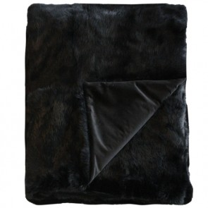 Collezióne Rabbit - Dyed Black Throw