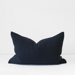 Navy Italian Linen Cushion 40 x 60cm