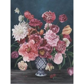 Large Blooms in Vase Canvas Art