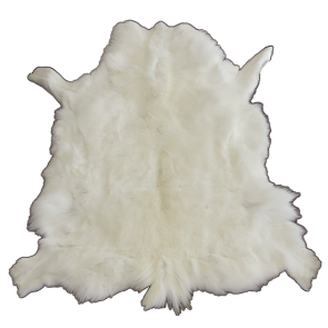 Reindeer Natural Hide White Floor Rug