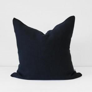 Navy Italian Linen Cushion 60 x 60cm