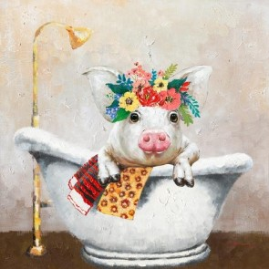 Bath Babe Canvas Art