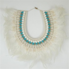 Valia Necklace Aqua/White