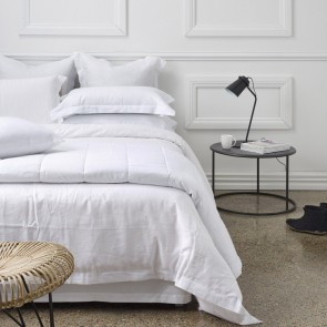 Linen Duvet Cover White - NZ Made