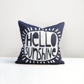 Hello Sunshine Cushion - Blue Denim