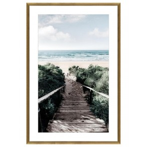 Beach Stairs Print in Glass by Stoneleigh & Roberson