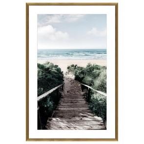 Beach Stairs Print in Glass