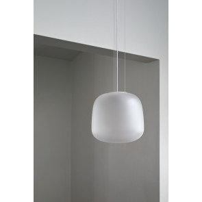 Frosted Clear Glass Pendant Light - Small