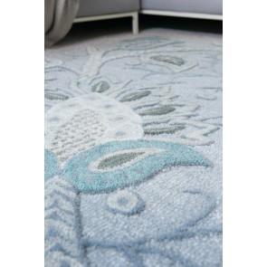 Mulberi Abigail Soft Blue/Multi Wool Floor Rug