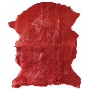 Mulberi Adore Natural Goat Fur Hide - Burnt Orange