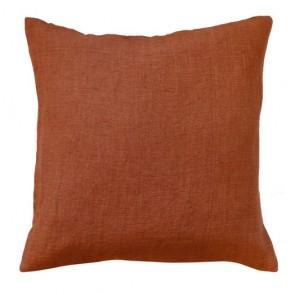 Limon Adria Cotton/Linen Blend Cushion - Rust