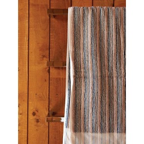 Navy Stripe Organic Bath Towels