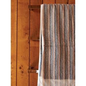 Navy Stripe Organic Bath Towels