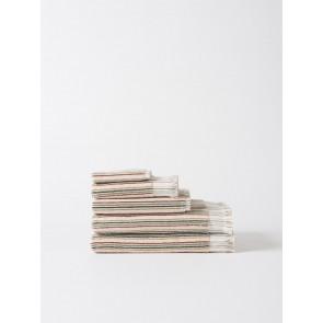 Moss Stripe Organic Bath Towels