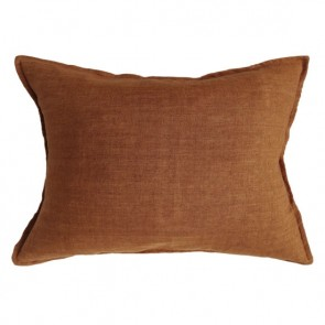 100% Linen Arcadia Cushion by Mulberi - Tobacco