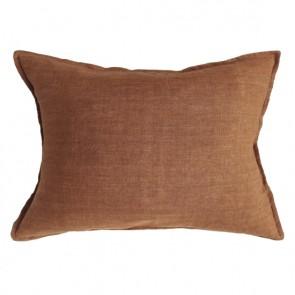 100% Linen Arcadia Cushion by Mulberi - Tobacco