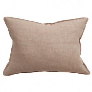 100% Linen Arcadia Cushion by Mulberi - Toasted Coconut
