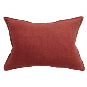 100% Linen Arcadia Cushion by Mulberi - Leather