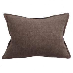 100% Linen Arcadia Cushion by Mulberi - Clove
