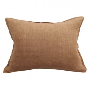 100% Linen Arcadia Cushion by Mulberi - Cumin