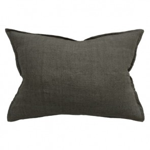 100% Linen Arcadia Cushion by Mulberi - Moss