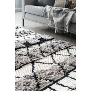 Mulberi Asawa Wool Floor Rug - Black/Cream