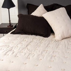 Astrid Quilted Bedspread Blanket - Natural
