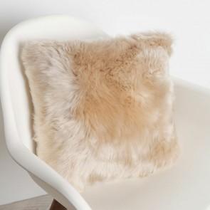Fibre By Auskin Sheepskin Cushion - Dark Linen