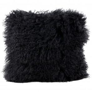 Tibetan Sheepskin Cushion by Auskin - Black