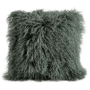 Tibetan Sheepskin Cushion by Auskin - Evergreen