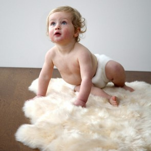 New Zealand Sheepskin Infant Rugs by Auskin - Bone