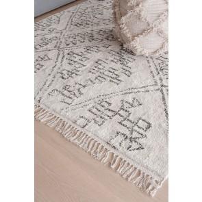 Mulberi Awan Black Natural White Floor Rug