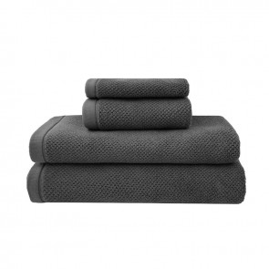 Angove Bath Towel Range by Bambury - Charcoal