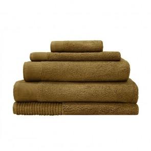 Elvire Bath Towel Range by Bambury - Tobacco