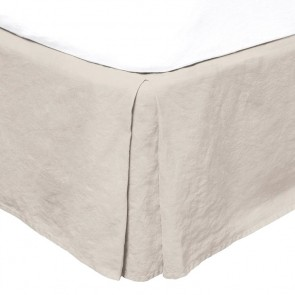 French Flax Linen Valance by Bambury - Pebble