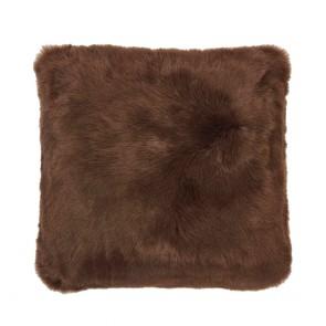 Faux Fur Square Cushion by Bambury - Hazel