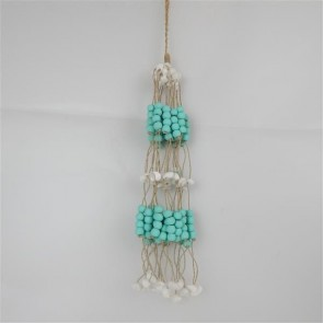 Bead/Shell Hanging Bundle Aqua