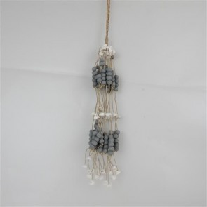 Bead/Shell Hanging Bundle Grey