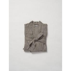 Beau Men's Chambray Linen Dressing Gown