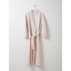 Bella Women's Linen Dressing Gown Mushroom
