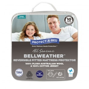 Bellweather Reversible Australian Wool / Cotton Jersey Mattress Protector