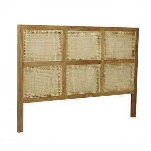Willow Woven Queen Bedhead by GlobeWest - Natural Teak